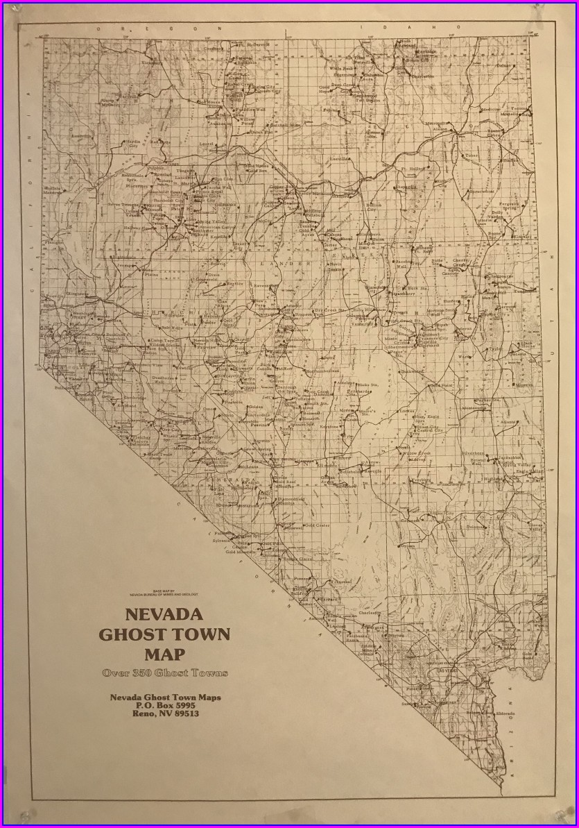 Map Of Nevada Ghost Towns