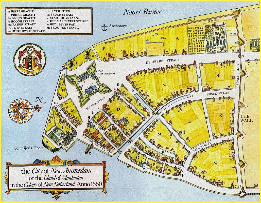 Map Of New Amsterdam 1660
