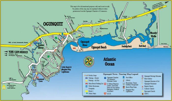 Map Of Ogunquit Hotels