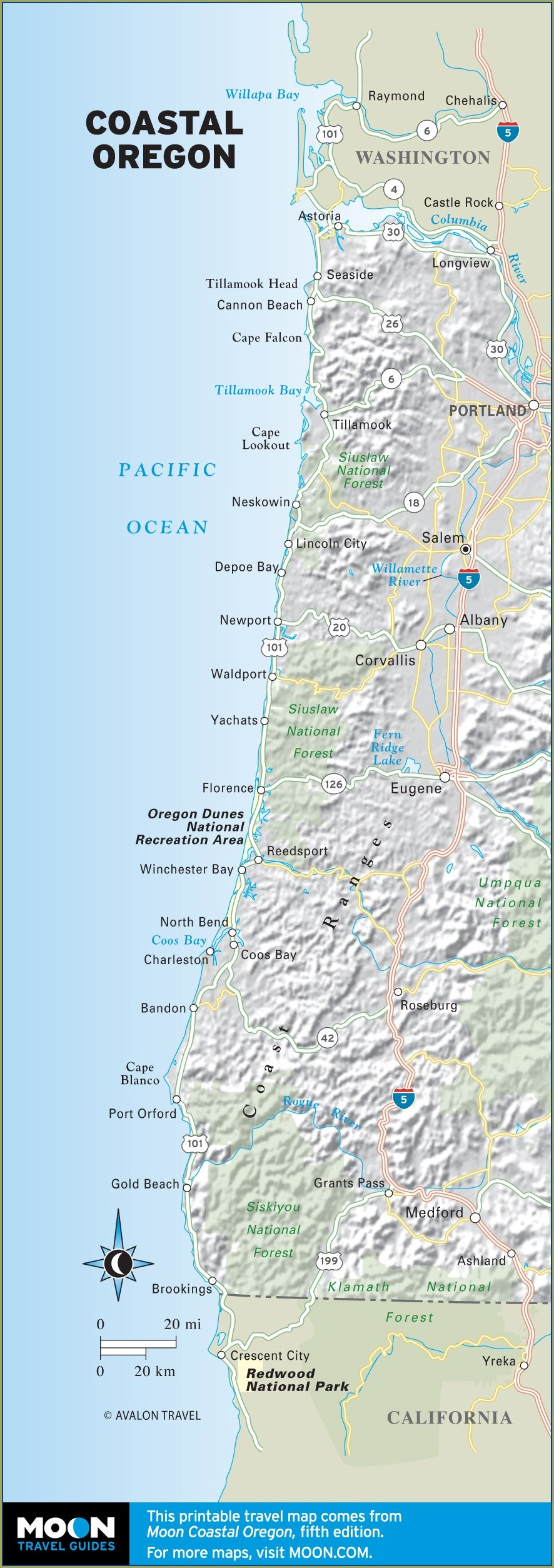 Map Of Oregon Coast Campgrounds