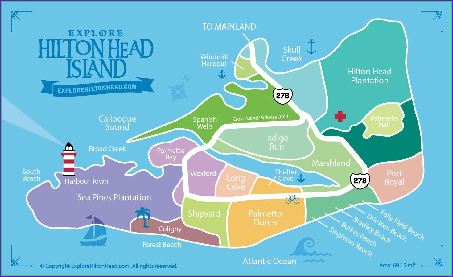 Map Of Palmetto Dunes Resort Hilton Head