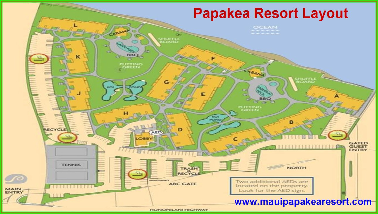 Map Of Papakea Resort Maui