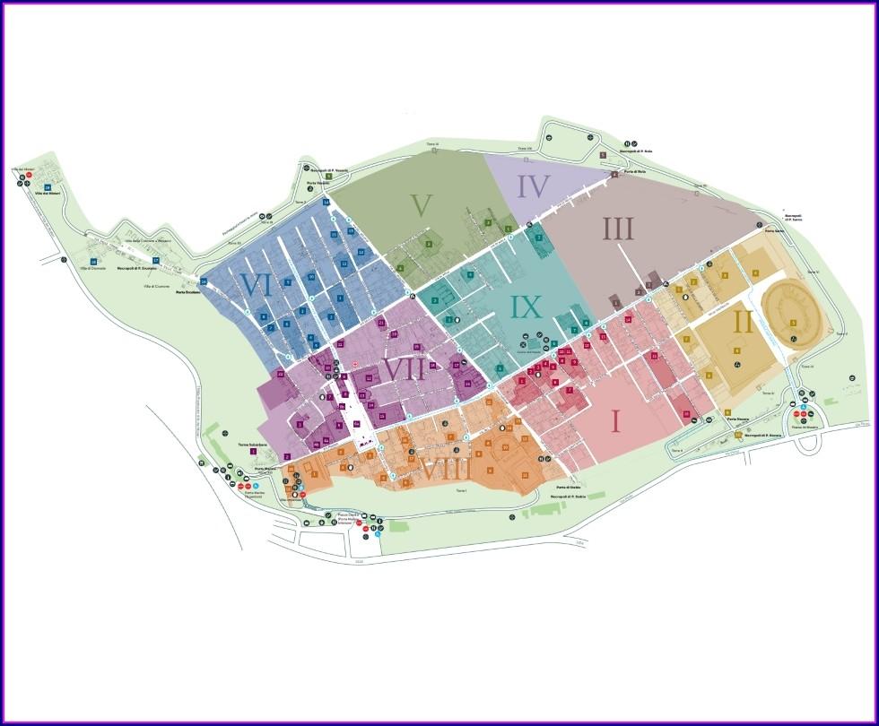 Map Of Pompeii Ruins English