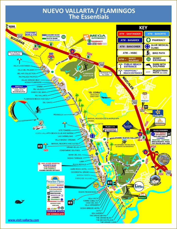 Map Of Puerto Vallarta Hotels And Resorts