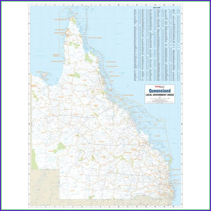 Map Of Qld Local Government Areas