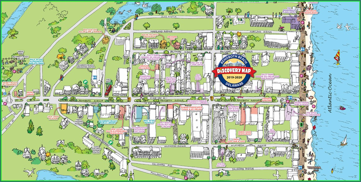 Map Of Rehoboth Beach Hotels