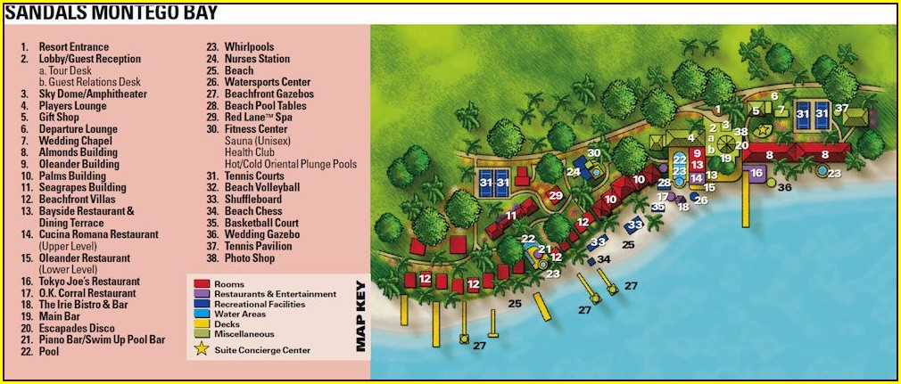 Map Of Resorts In Montego Bay Jamaica