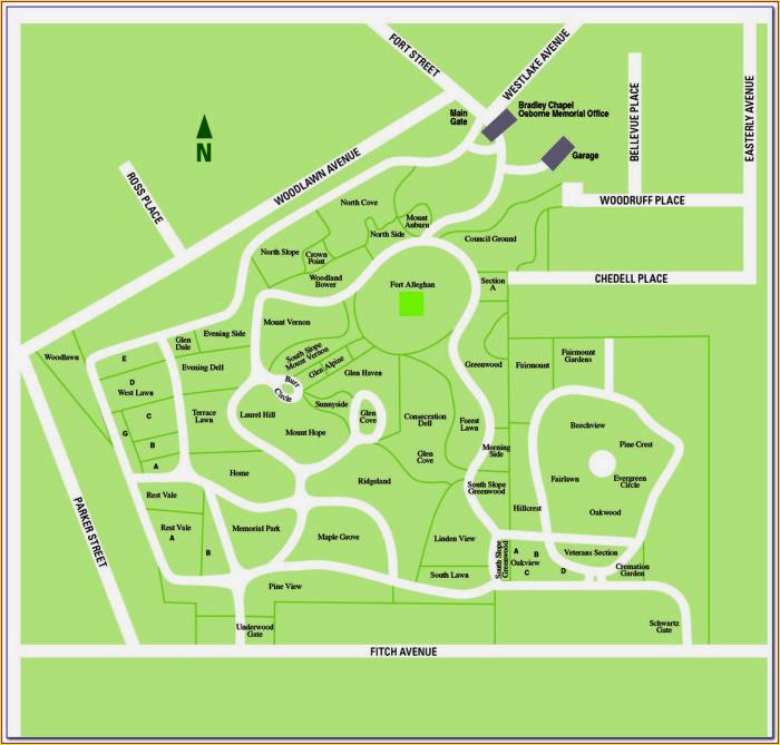 Map Of Restland Cemetery Dallas
