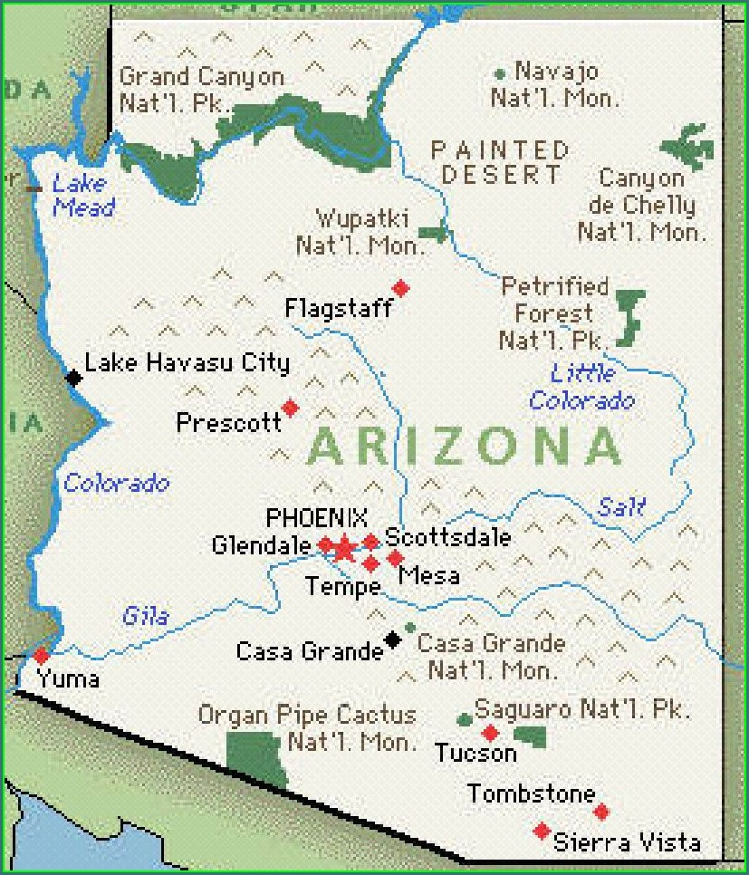 Map Of Saguaro Lake Az