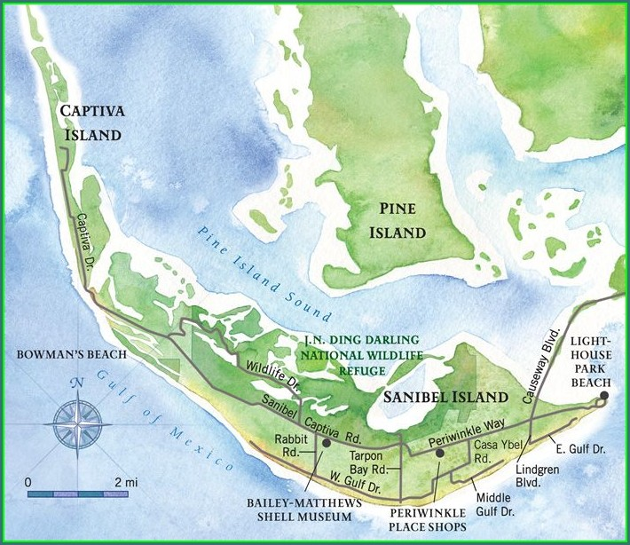 Map Of Sanibel Island Hotels