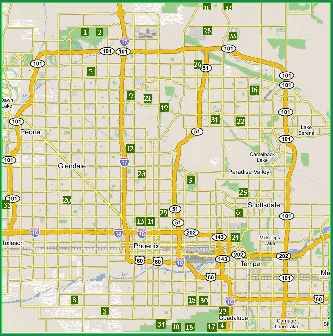 Map Of Scottsdale Golf Courses