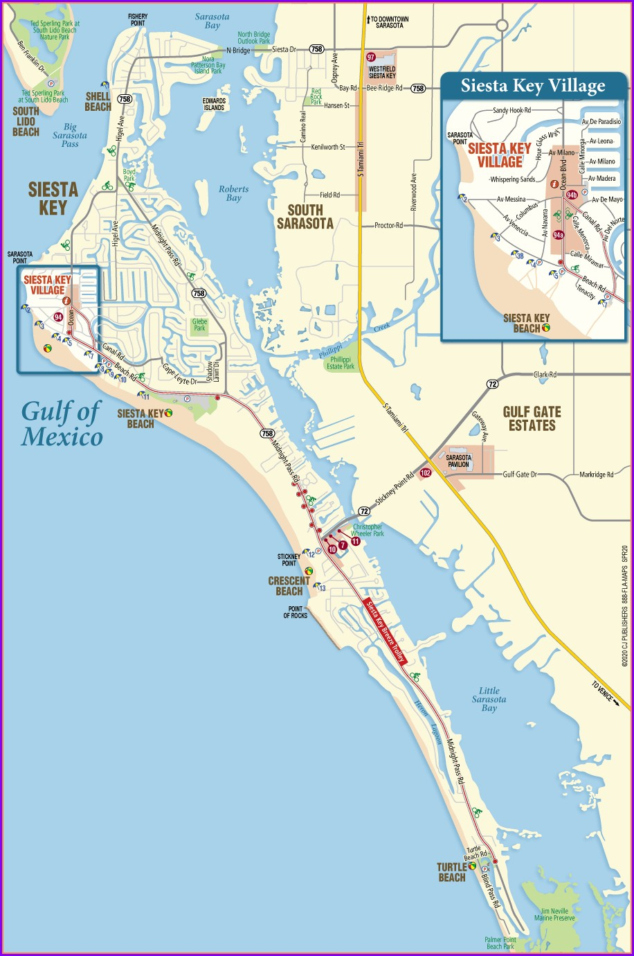 Map Of Siesta Key Beach Condos