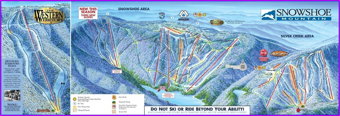 Map Of Snowshoe Village Wv