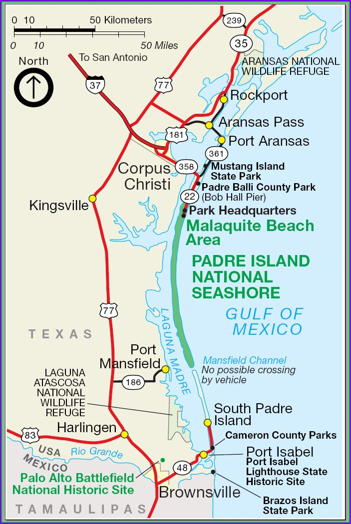 Map Of South Padre Island Hotels