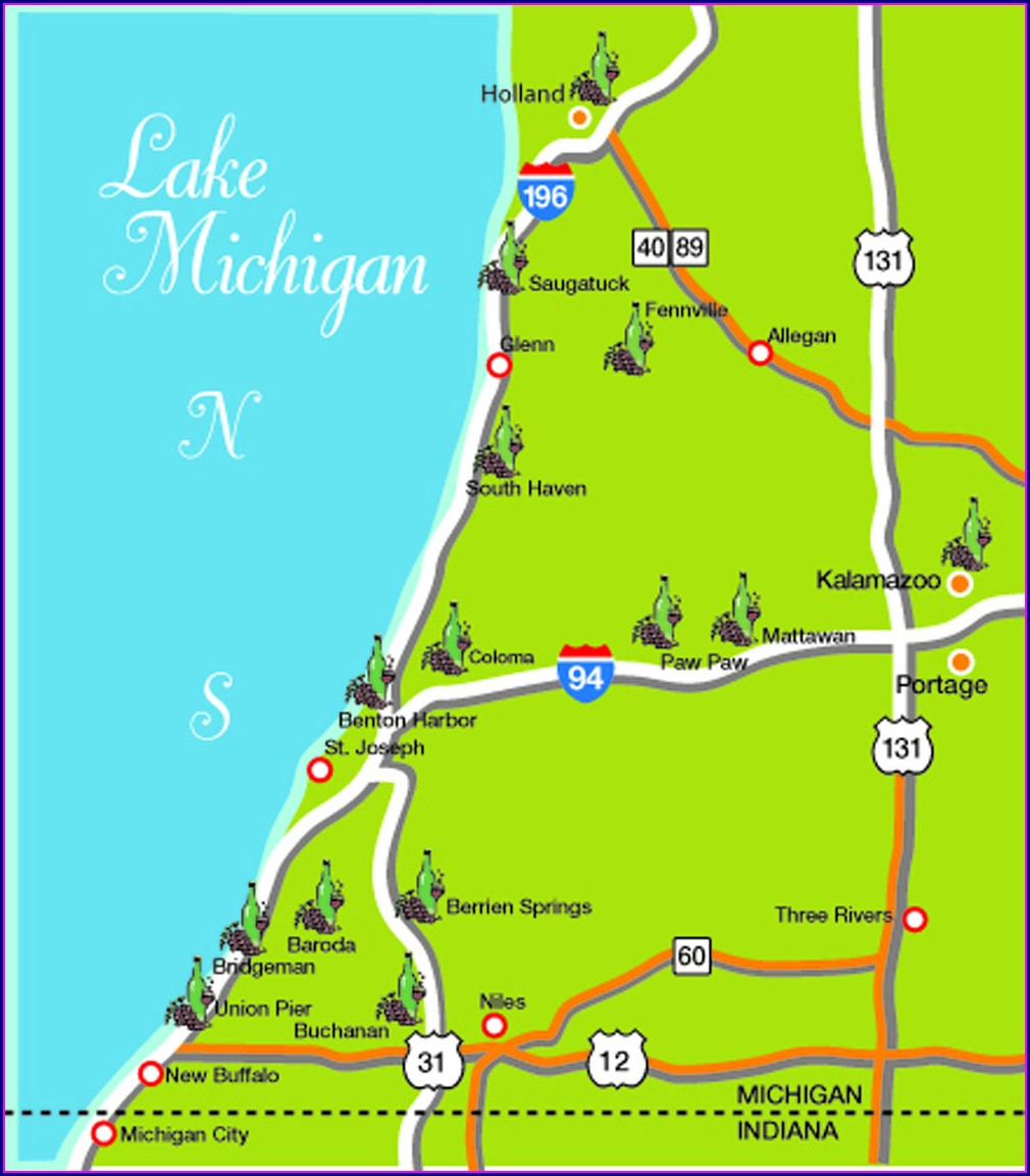 Map Of Southwest Michigan Wineries