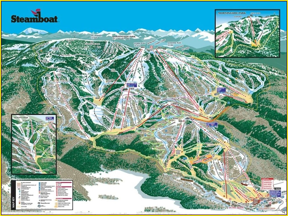 Map Of Steamboat Springs Ski Resort