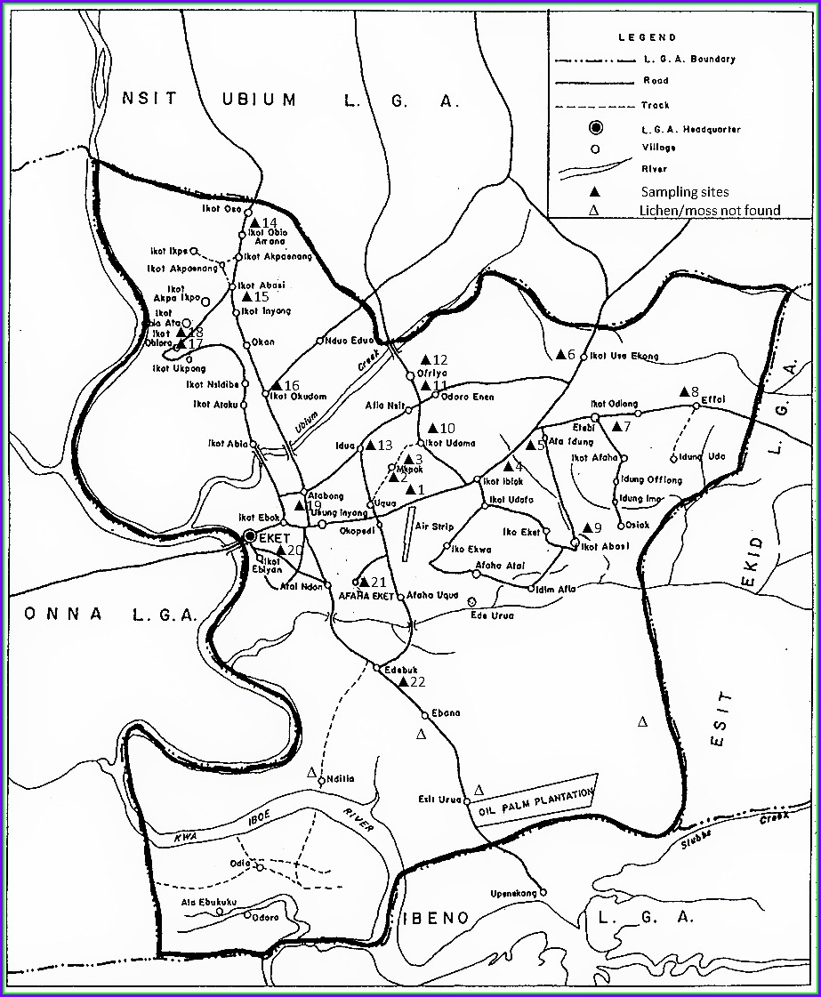 Map Of Uyo Local Government Area