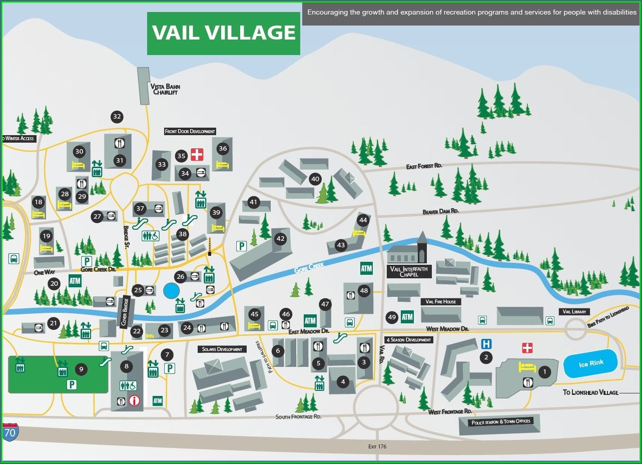 Map Of Vail Hotels