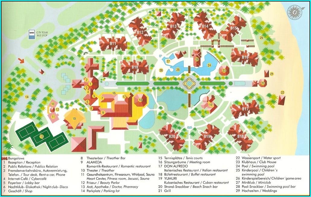 Map Of Varadero Hotels