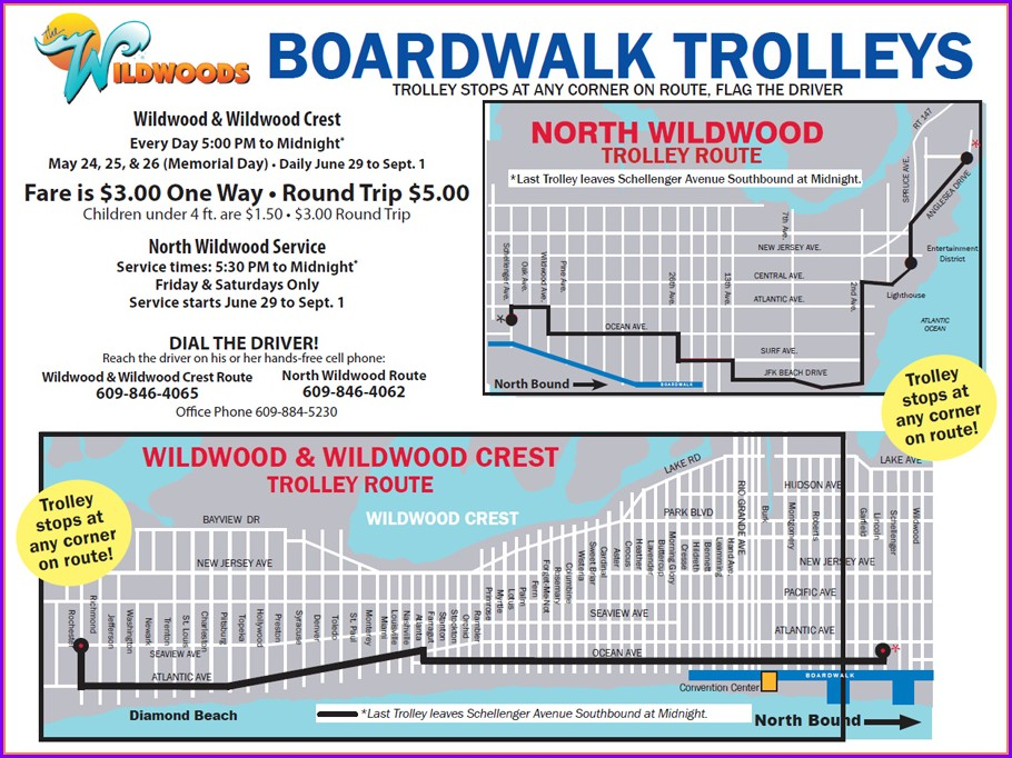 Map Of Wildwood Crest Nj Hotels