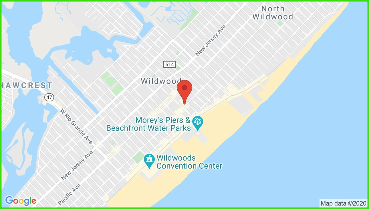 Map Of Wildwood Nj Hotels