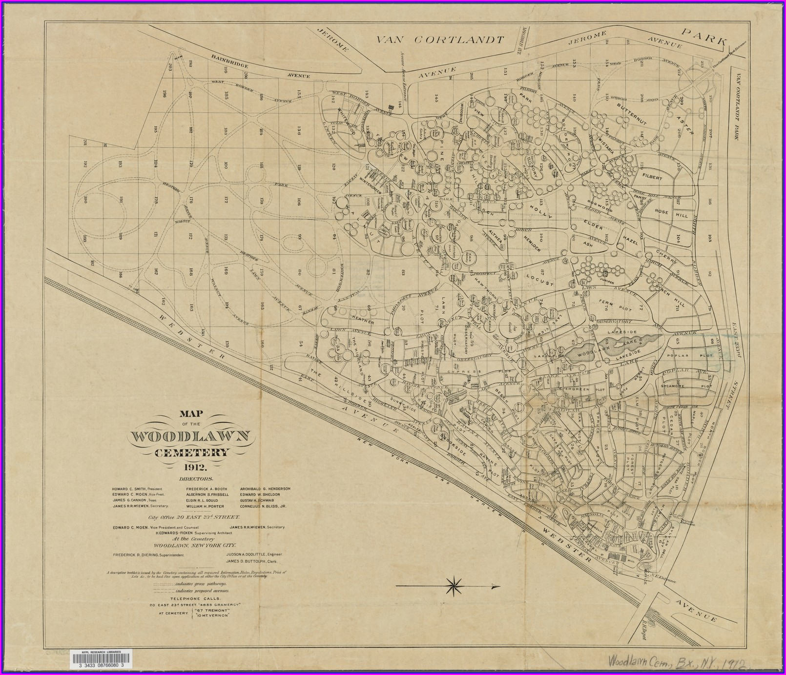 Map Of Woodlawn Cemetery Bronx Ny