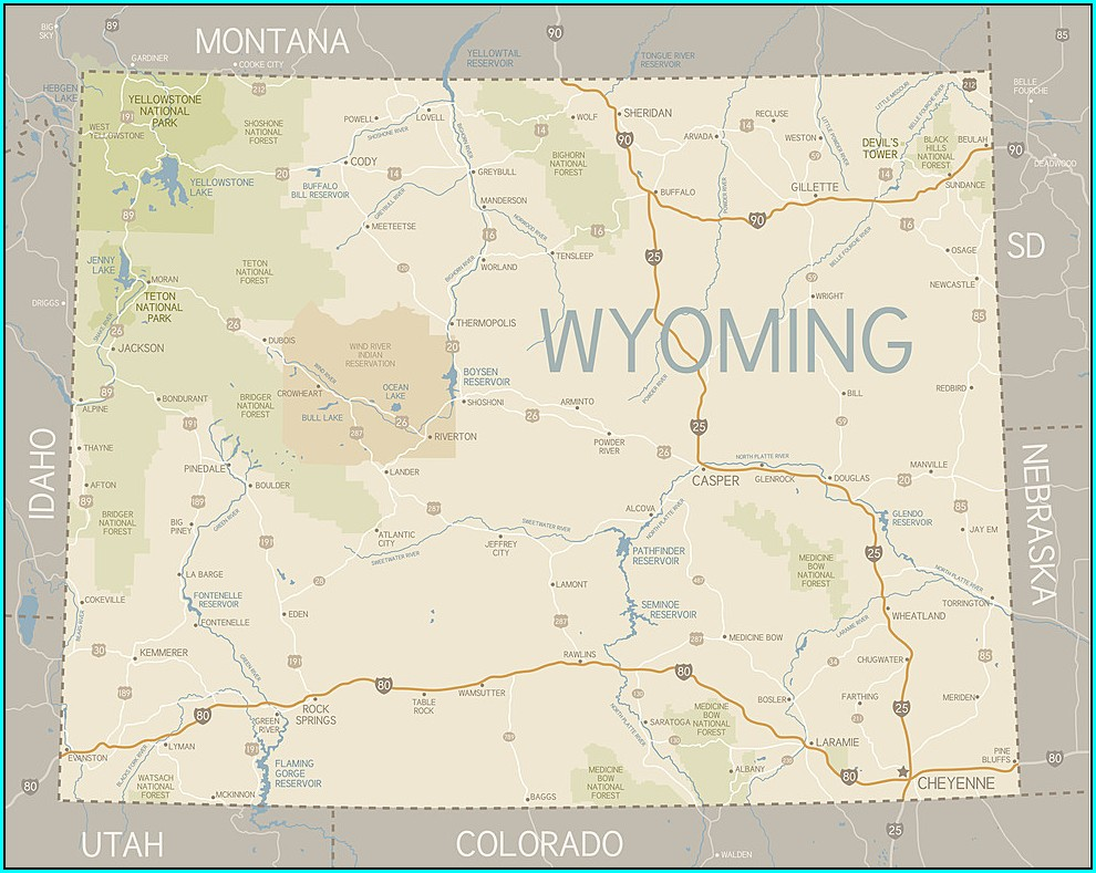 Map Of Wyoming Road Closures