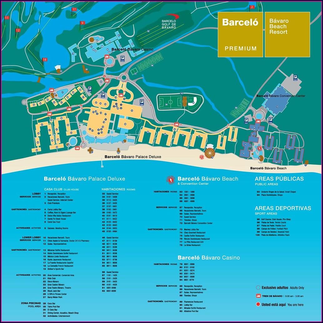 Mapa Barcelo Bavaro Palace Punta Cana
