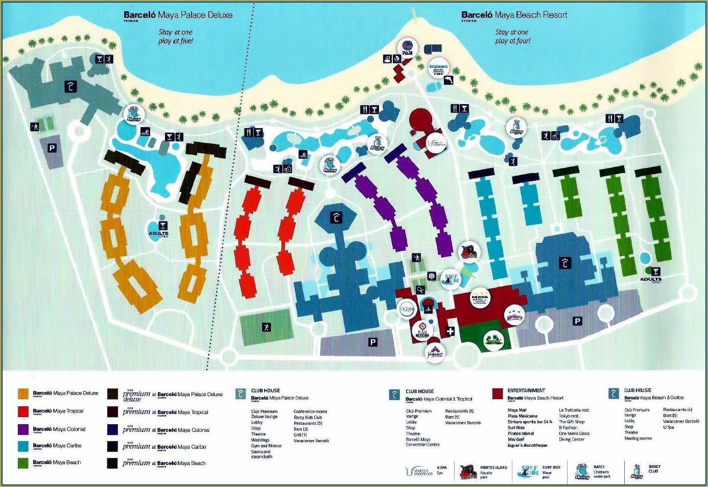 Mapa Del Hotel Barcelo Riviera Maya