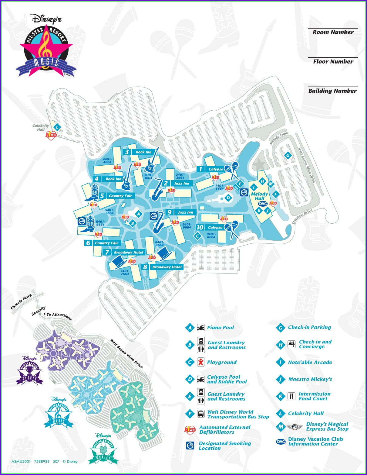 Mapa Disney All Star Sports