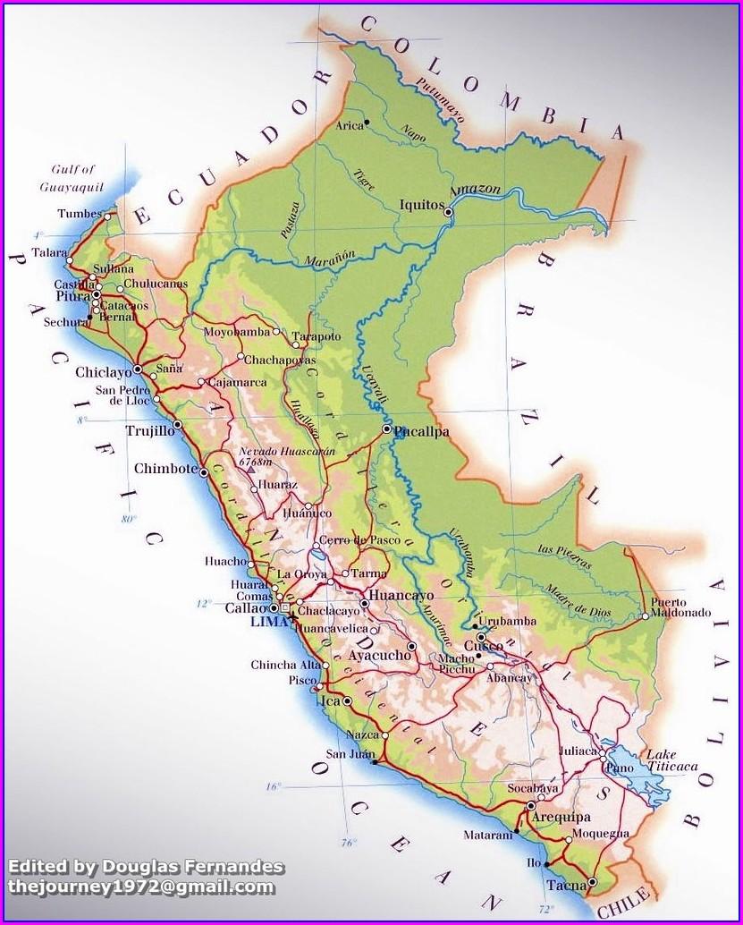 Mapa Geografico De Iquitos Peru