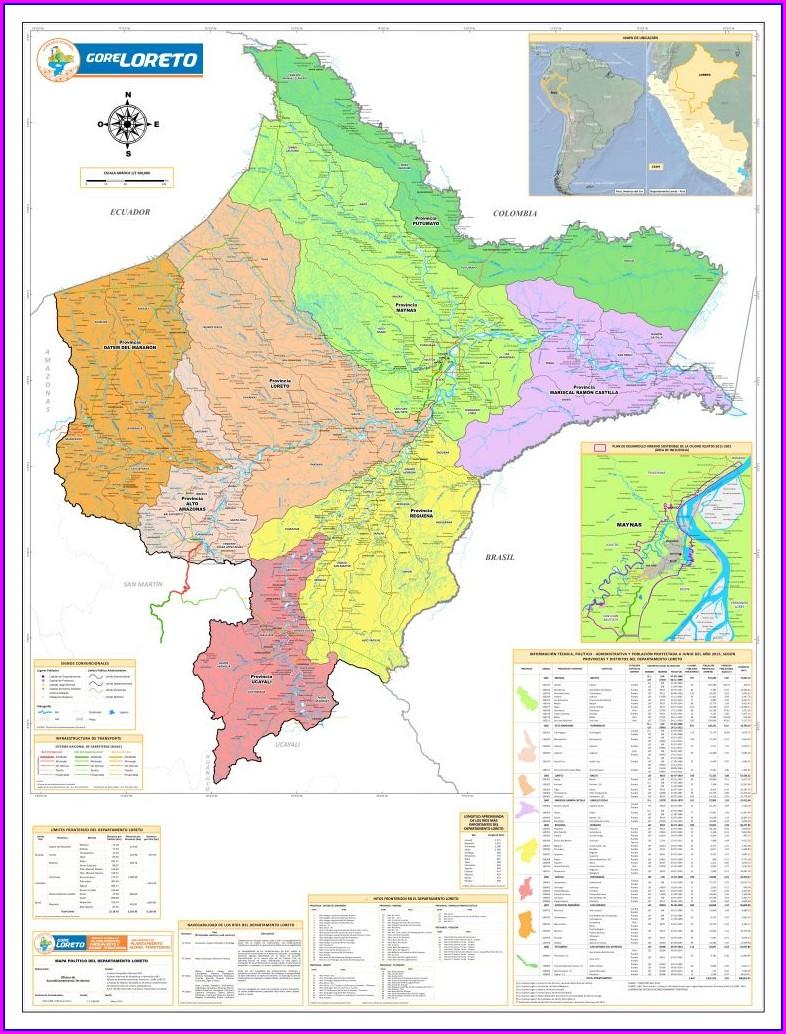 Mapa Politico De Iquitos Peru