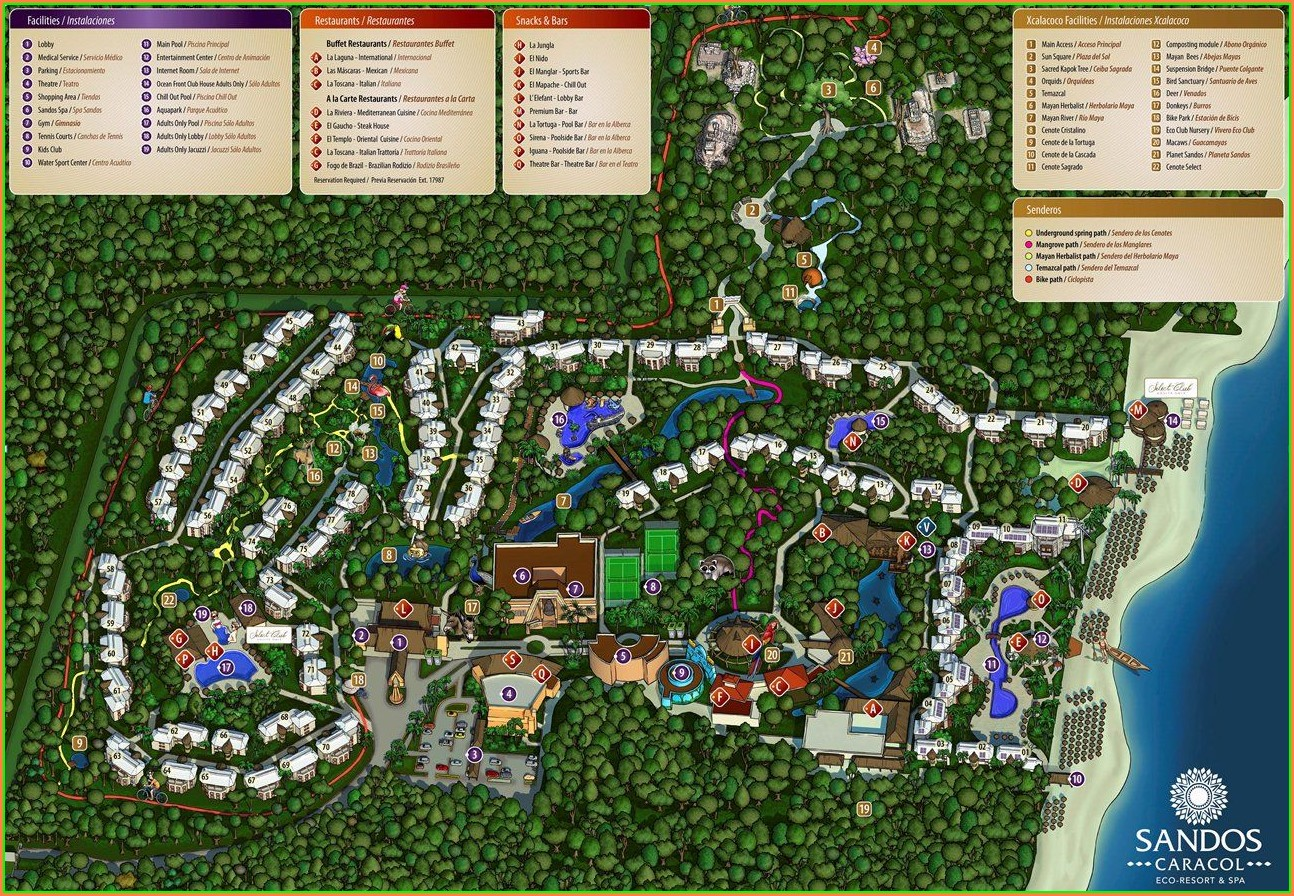 Mapa Sandos Caracol Eco Resort Spa