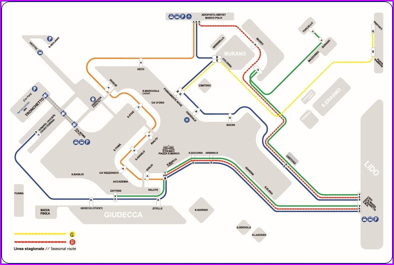 Marco Polo Venice Airport Map