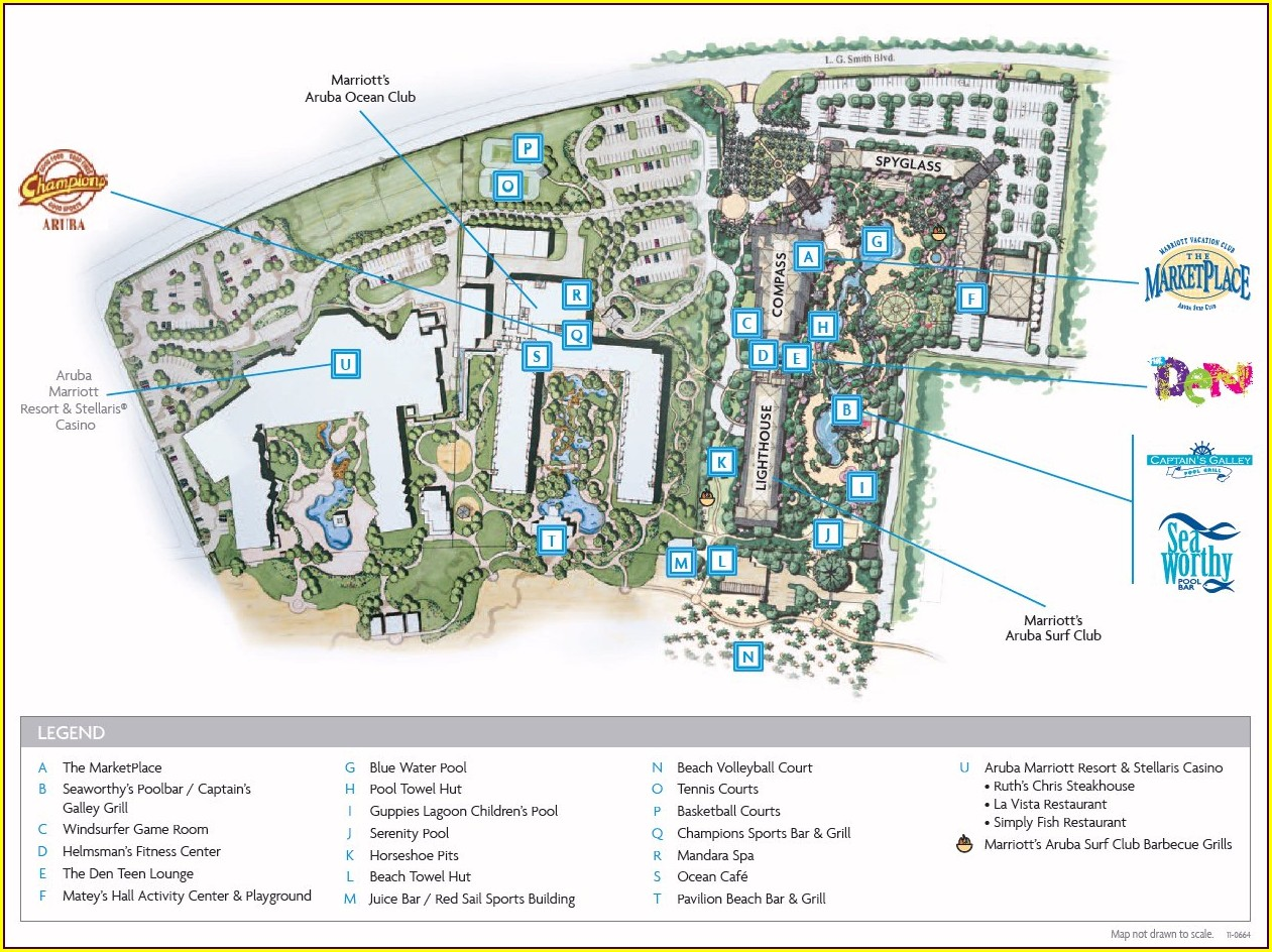 Marriott Aruba Surf Club Resort Map