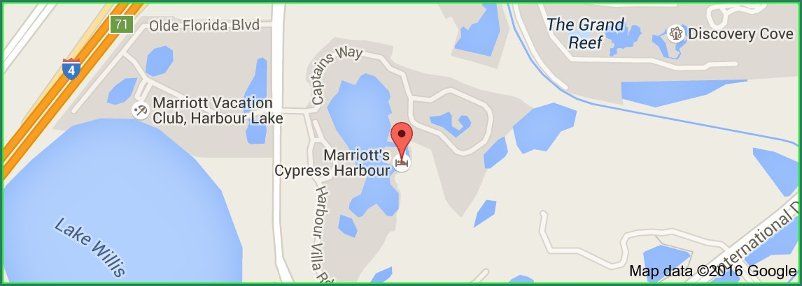 Marriott Cypress Harbour Map