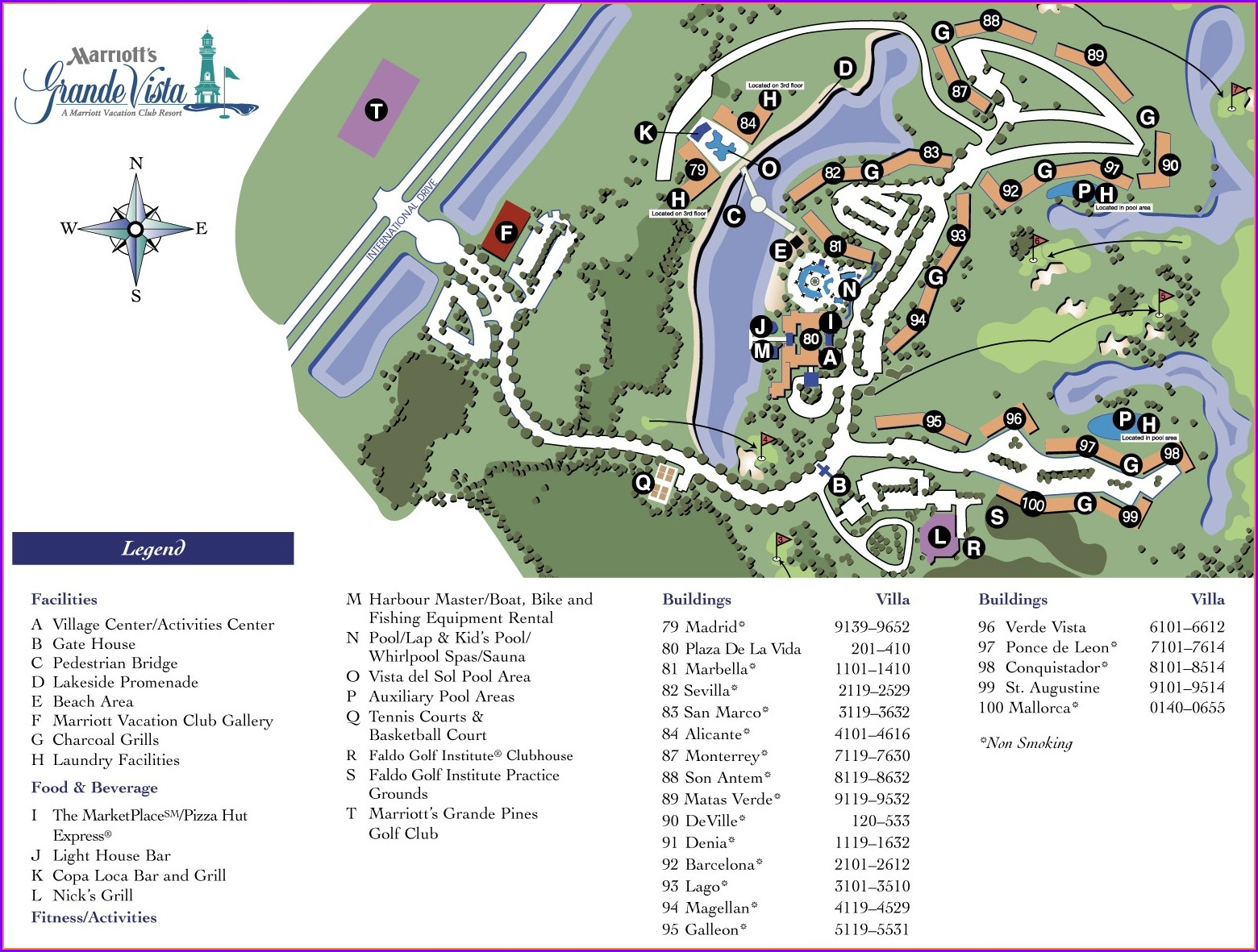 Marriott Grande Vista Property Map