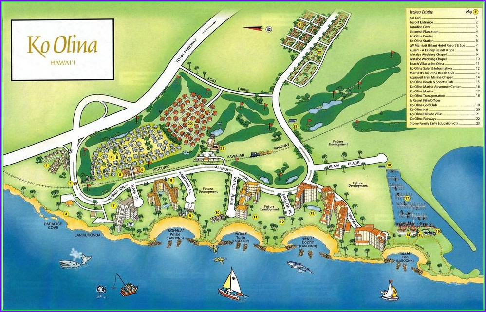 Marriott Ko Olina Resort Map