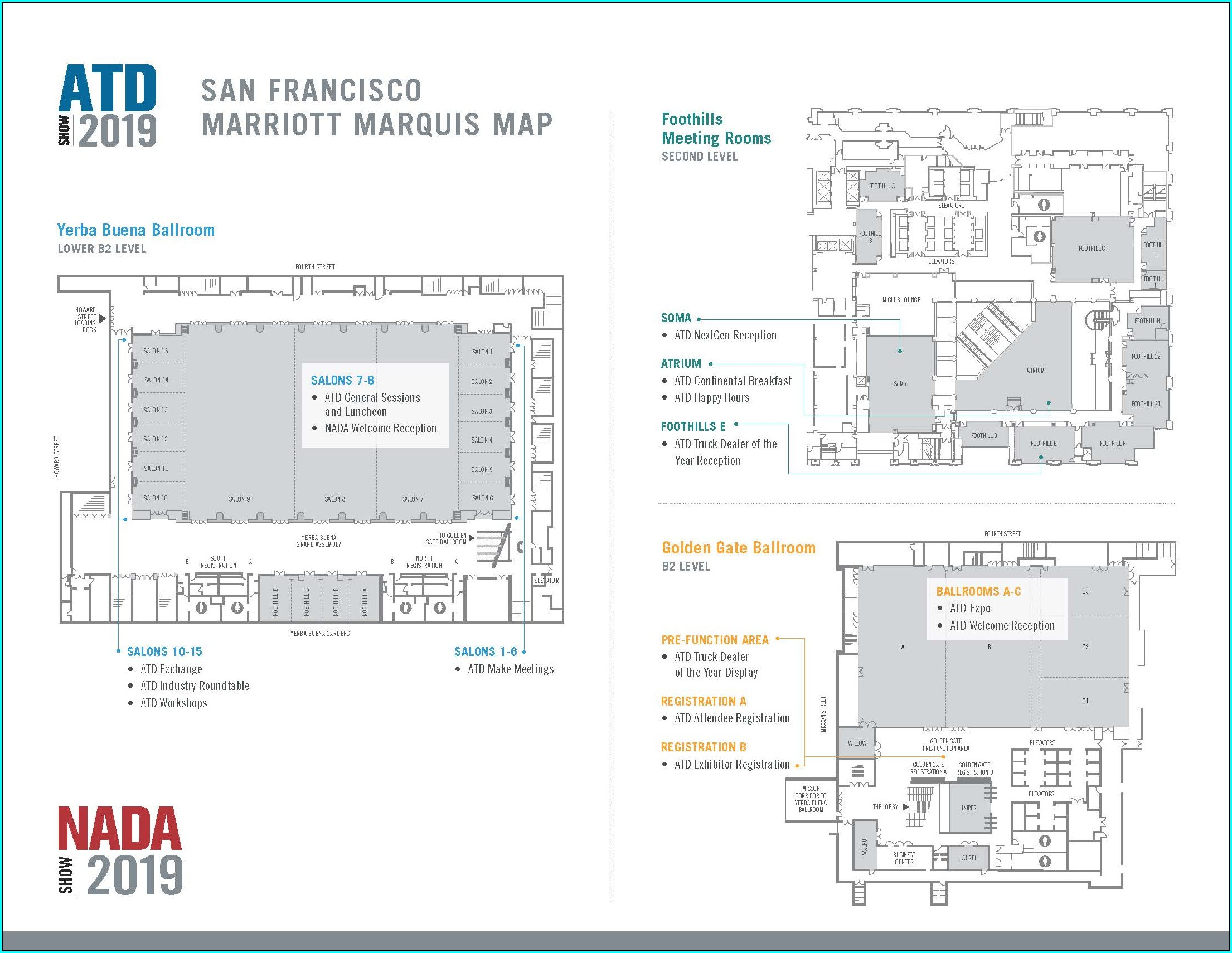 Marriott Marquis San Francisco Map