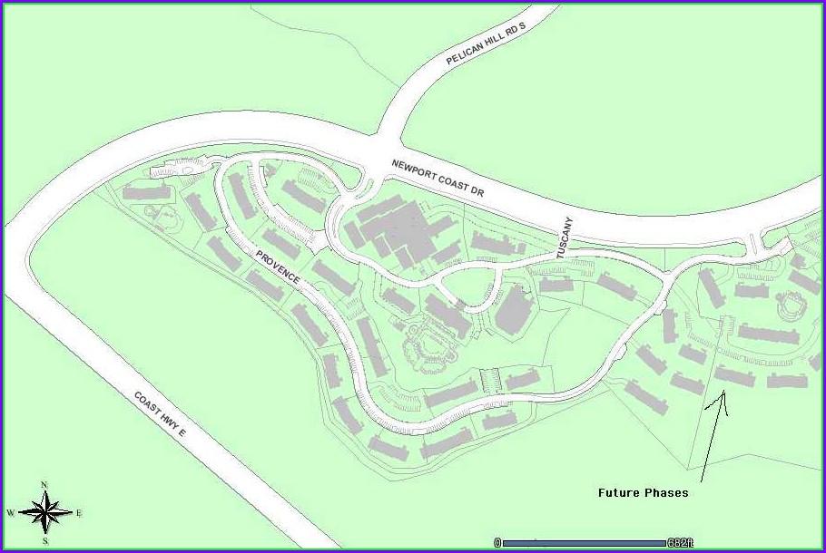 Marriott Newport Coast Villas Building Map