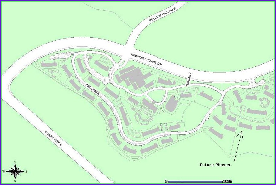 Marriott Newport Coast Villas Site Map