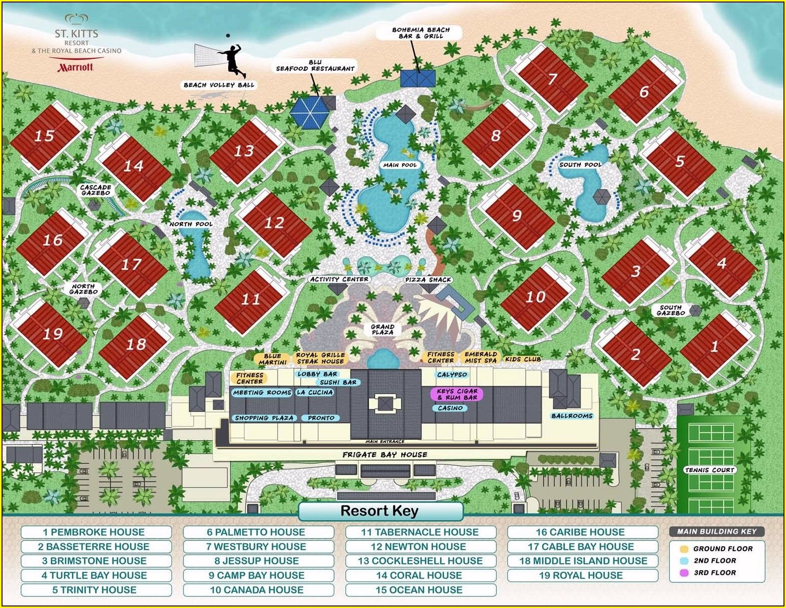 Marriott St Kitts Resort Map