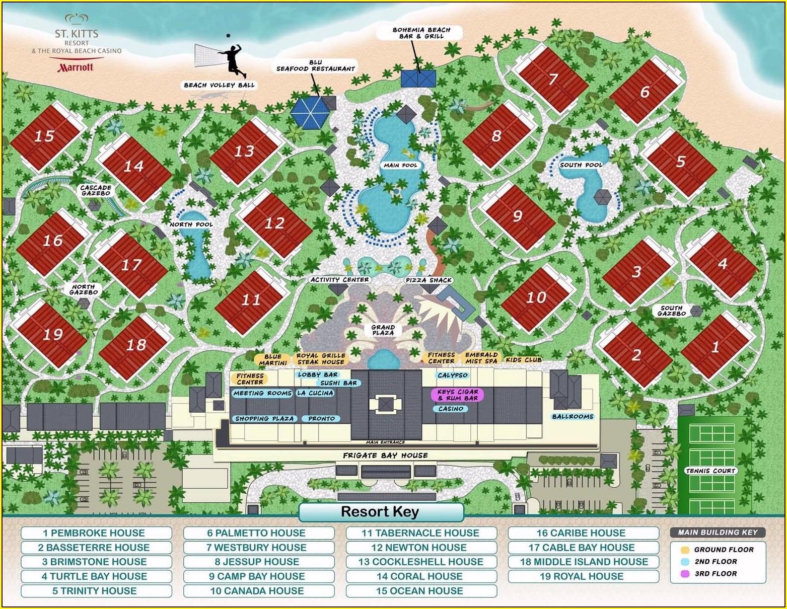 Marriott St Kitts Resort Map