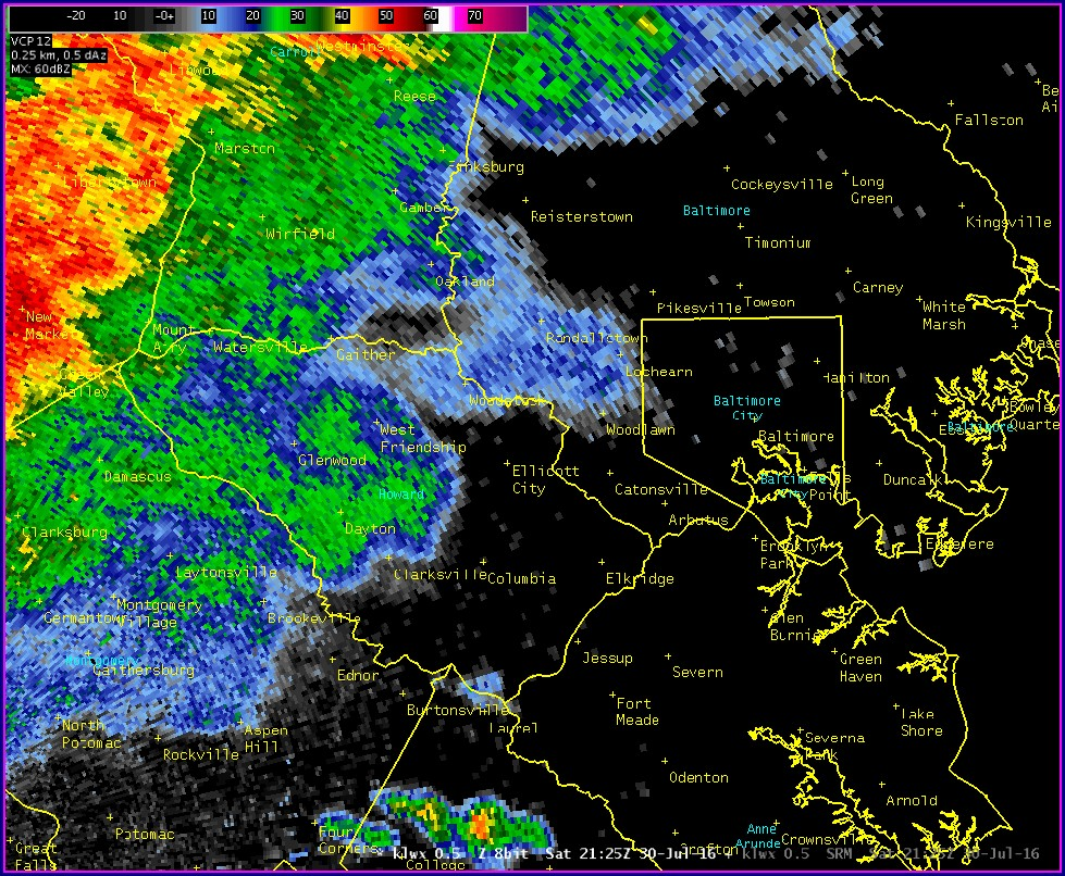Maryland Radar Weather Map