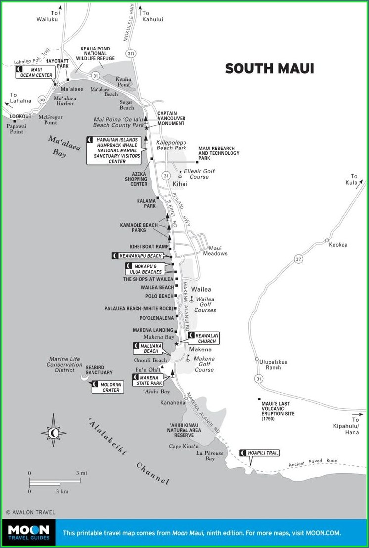 Maui Hiking Trail Map