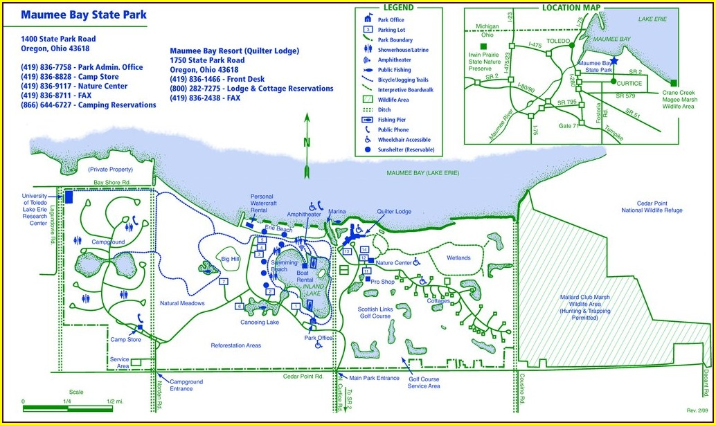 Maumee Bay State Park Campground Map