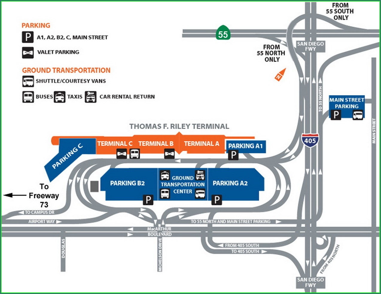 Mcghee Tyson Airport Parking Map