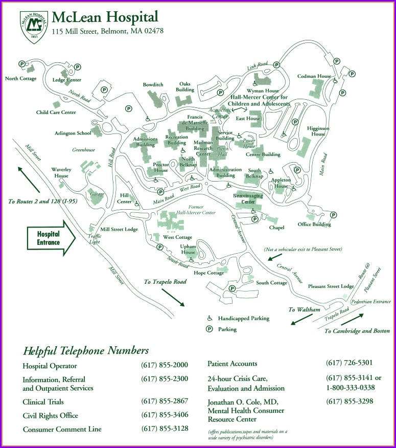 Mclean Hospital Campus Map