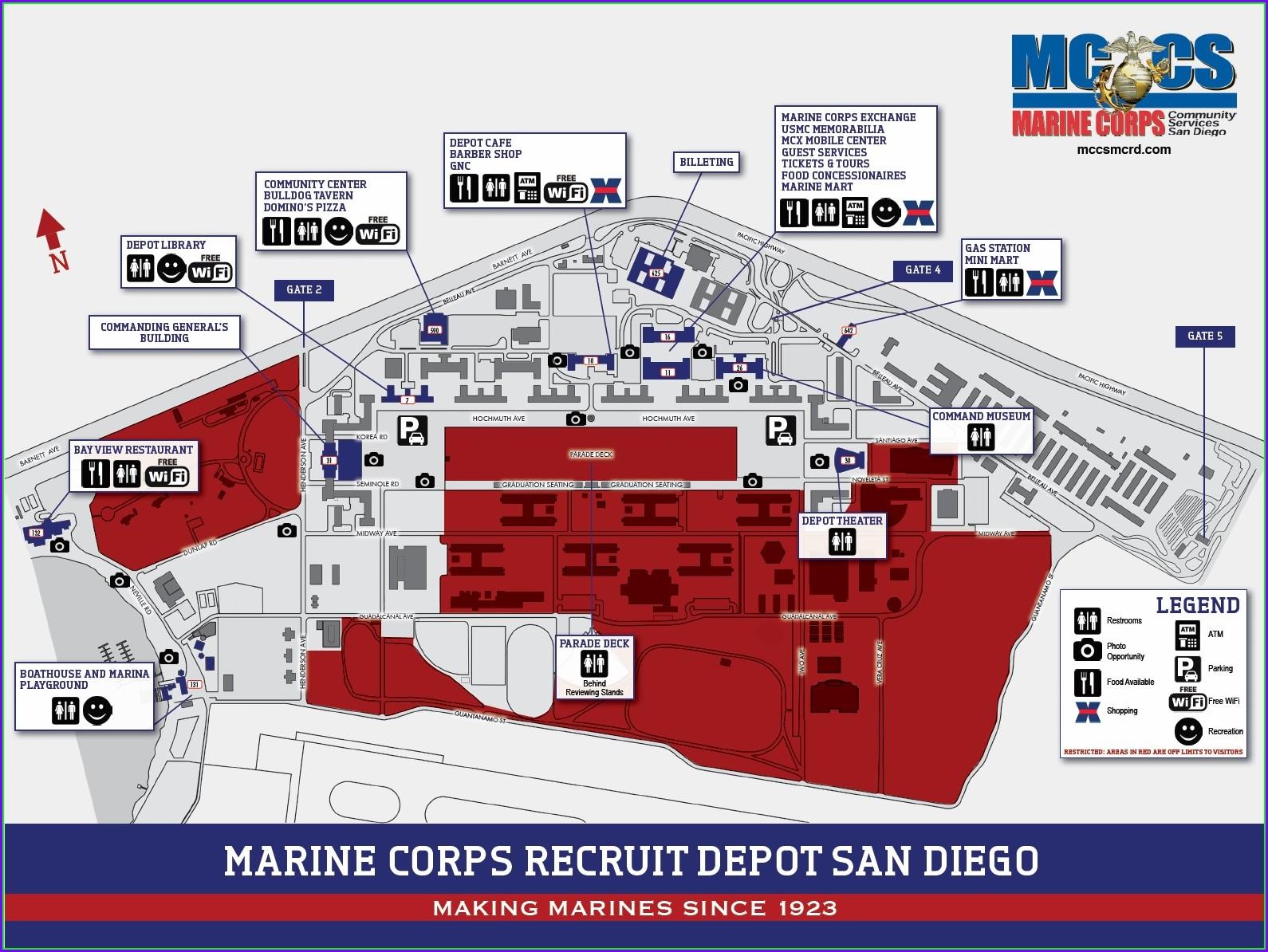 Mcrd San Diego Base Map