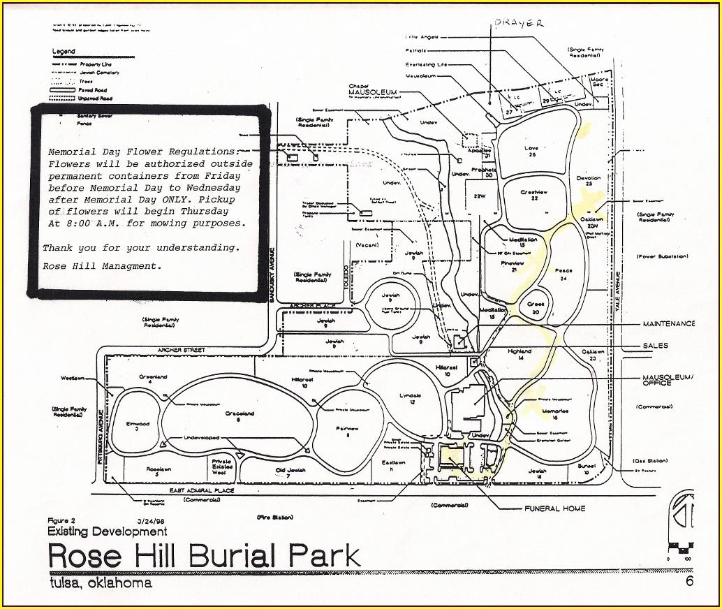 Memorial Park Cemetery Tulsa Plot Map